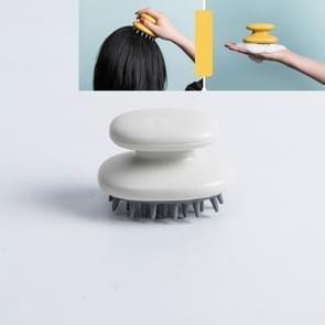 Huishoudelijke Shampoo Comb Siliconen Massage Comb Portable Head Grab Roos Haarborstel (Wit)