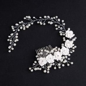 Vrouwen haar kam bruid Wedding Clip handgemaakte bloemen kralen decoratie dames haren haaraccessoires zoals
