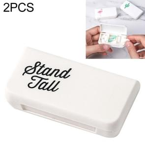 2 PCS Portable Mini Pill Case Medicine Boxes 3 Grids Travel Home Medical Drugs Container Holder Cases Storage Box(Letter)