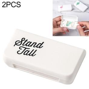 2 PCS draagbare mini pil geval geneeskunde vakken 3 rasters reizen thuis medische drugs container houder gevallen opbergdoos (brief)