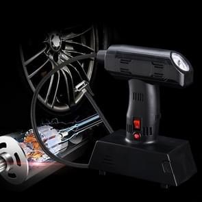 1 Set 12V Portable Metal Inflatable Pump Super Brightness Lighting Air Compressor Pump(Black)