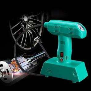 1 Set 12V Portable Metal Inflatable Pump Super Brightness Lighting Air Compressor Pump(Green)