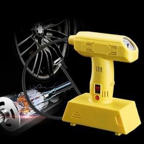 1 Set 12V Portable Metal Inflatable Pump Super Brightness Lighting Air Compressor Pump(Yellow)