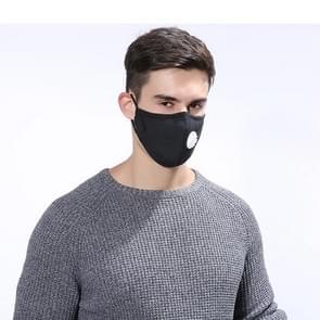 10 PCS Dust Respirator Washable Reusable Masks Cotton Unisex Mouth Muffle with Breathing Valve(Black)