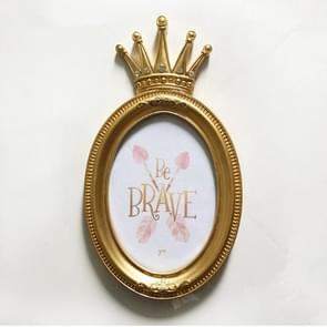 Luxury Baroque Style Gold Crown Decor Creative Resin Picture Desktop Frame Photo Frame(7 Inches JX17008-B)