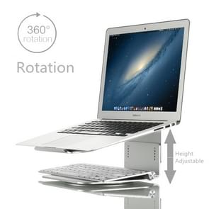 Height Adjustable Aluminum Alloy Laptop Cooling Stand 360 Rotation Ergonomic 10-17 inch Notebook Holder for MacBook Air Pro