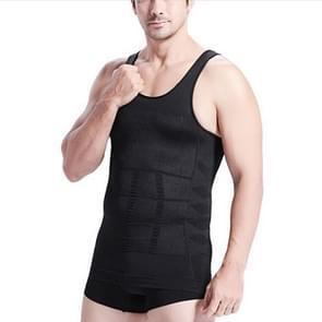 3PCS Men Slimming Body Shaper Vest Underwear(Black)