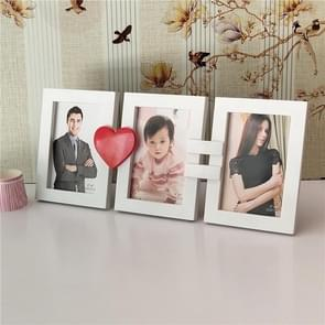 Europese minimalistische creatieve Siamese fotolijstjes kunststof kinderen fotolijstjes, stijl: liefde 3 gaten 6 inch