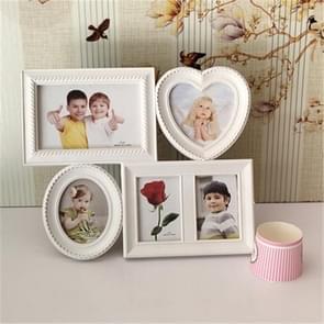 Europese minimalistische creatieve Siamese fotolijstjes kunststof kinderen fotolijstjes, stijl: samengevoegd 5-hole S-E