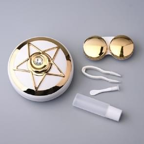 Draagbare Beauty Lens Care Double Box Contact Lens Case (Goud)