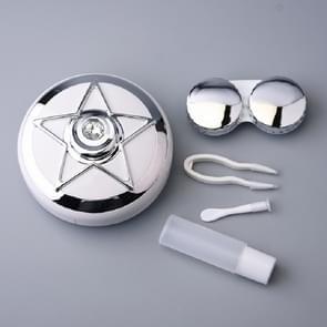 Draagbare Beauty lens verzorging Double Box contact lens geval (zilver)