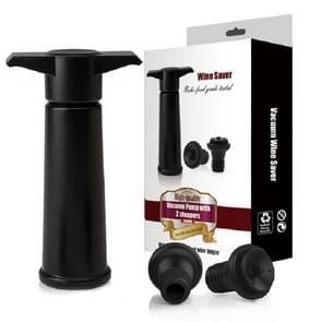 Rode wijn vacuümpomp luchtverfrisser siliconen wijn stopper set  specificatie: zwarte pomp driedelige doos