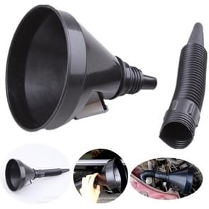 Universal Car Truck Motorcycle Filled Plastic Vehicle Funnels with Soft Spout Pipe Pour Oil Tool