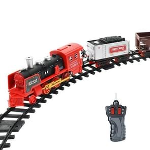 Electric Dynamic Steam RC Track Train Set Simulation Model Toy for Children Rechargeable Children Remote Control Toy Set(333-71)