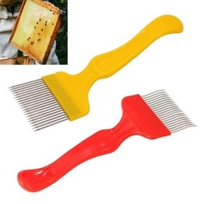 Antislip honing schop naald snijden honing mes ultra-dunne kam honing naald Bee tools  willekeurige kleur levering