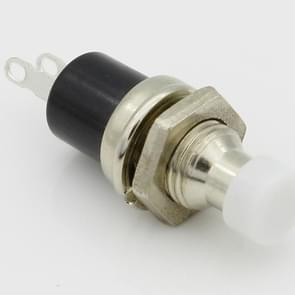 10 PCS 7mm Thread Multicolor 2 Pins Momentary Push Button Switch(White)