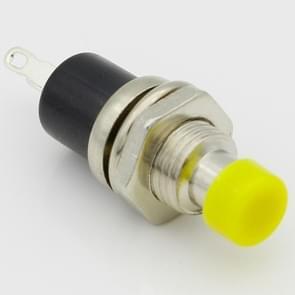 10 STKS 7mm draad Multicolor 2 pinnen kortstondige drukknop schakelaar (geel)