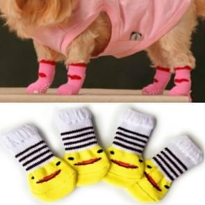 2 Pairs Cute Puppy Dogs Pet Knitted Anti-slip Socks(Duckling)