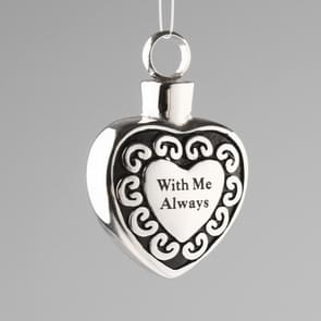 Commemorating A Loved One Pet Bones Hair Stainless Steel Heart-shaped Urn Box Pendant