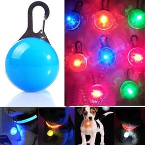 LED Flashlight Dog Cat Collar Glowing Pendant Luminous Bright Decoration Collars(Blue)