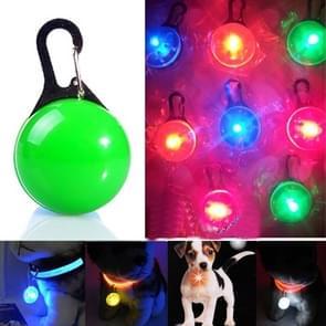 LED Flashlight Dog Cat Collar Glowing Pendant Luminous Bright Decoration Collars(Green)