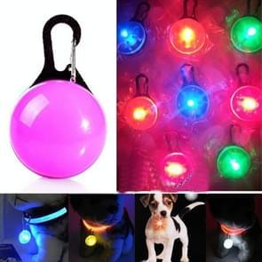 LED Flashlight Dog Cat Collar Glowing Pendant Luminous Bright Decoration Collars(Pink)