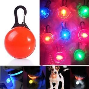 LED Flashlight Dog Cat Collar Glowing Pendant Luminous Bright Decoration Collars(Red)