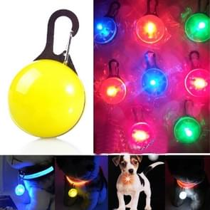 LED Flashlight Dog Cat Collar Glowing Pendant Luminous Bright Decoration Collars(Yellow)