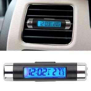 2 in 1 auto auto thermometer klok kalender LCD-scherm