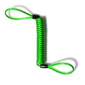 Alarm Disc Lock Security Anti Thief Motorbike Wheel Disc Brake Spring Cable(Green)