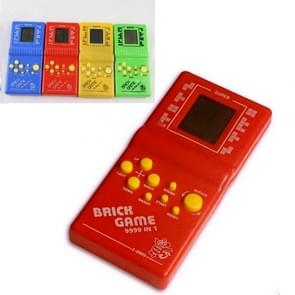 Classic Tetris Brick Game Handheld Game Console, Bulit-in 7 Kinds Games, Random Color Delivery