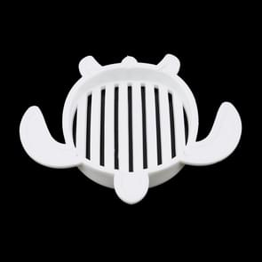 2 PCS Turtle Soap Holder PP Plastic Home travel Soap box(White)