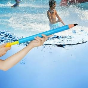 Children Water Gun Toy Plastic Pull Type Large Pencil Water Pumping High Pressure Water Needle(Blue)