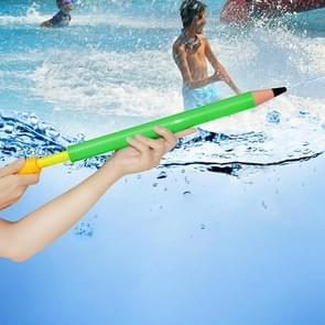 Children Water Gun Toy Plastic Pull Type Large Pencil Water Pumping High Pressure Water Needle(Green)