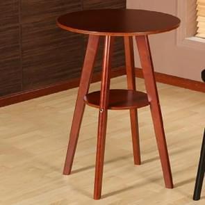 Massief houten bar tabel dubbele ronde salontafel (bruin)
