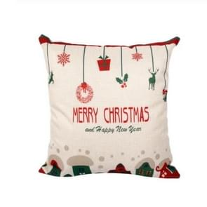 Christmas Pillow Case Merry Christmas Decoration for Home Christmas Ornaments Deer Santa Claus Pillow Cover(Hanging Ornament)
