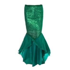 Mermaid High Waist Sequins Large Swing Skirt, Size:L(Green )