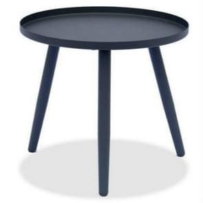 Nordic Round Small Coffee Table Office Display Simple Modern Living Room Sofa Balcony Creative Side Table(Black)