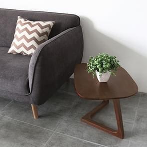Eenvoudige puur massief hout salontafel creatief wit eiken balkon thee sofa bijzettafel (walnoot kleur)