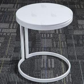 Nordic Small Apartment Simple Furniture Solid Wood Round Rectangle Cafe Telephone Tables Living Room Bedroom Small Desk(Round Foot)