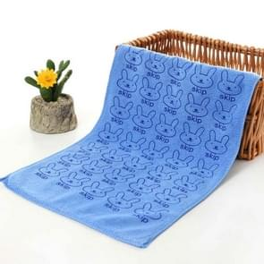 25*50cm Cute Baby Kid Towel Face Microfiber Absorbent Drying Bath Beach Towel Washcloth Swimwear Baby Towel Cotton Kids Towel(Dark blue)