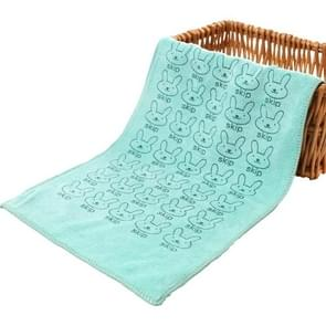 25*50cm Cute Baby Kid Towel Face Microfiber Absorbent Drying Bath Beach Towel Washcloth Swimwear Baby Towel Cotton Kids Towel(blue)