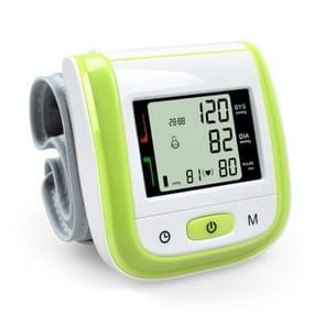 2 PCS Health Care Automatic Wrist Blood Pressure Monitor Digital LCD Wrist Cuff Blood Pressure Meter(Green)