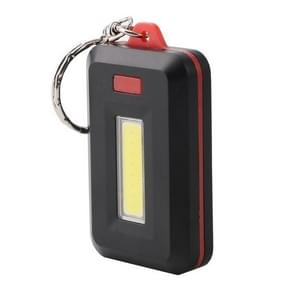 2 PCS 3W Mini COB LED Flashlight Keychain Emergency Camping  Backpack Light with 3 Modes(Red)