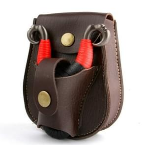 Steel Ball Package Leather Slingshot Bag Durable Without Deformation for Hunting, Color Random Delivery