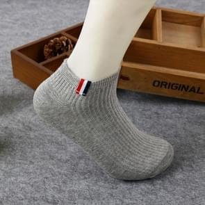 Pure Cotton Color Cloth Breathable Sailboat Socks, Size:One Size(Gray)