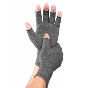 Gray A Pair sport ademend gezondheidszorg halve vinger handschoenen revalidatie opleiding artritis druk handschoenen  maat: L