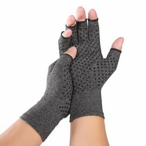 Hennep grijs doseren een paar sport ademend gezondheidszorg halve vinger handschoenen revalidatie opleiding artritis druk handschoenen  maat: L