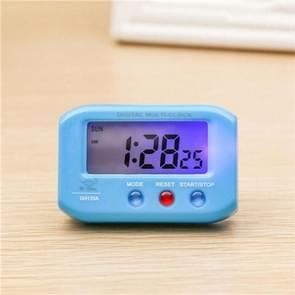 Portable Pocket Sized Digital Electronic Travel Alarm Clock Automotive Electronic Luminous Stopwatch LCD Clock(Blue)