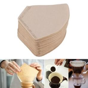 100 PCS/Bag Wooden Original Hand Drip Paper Coffee Filter Coffee Filter Pack Tea Bag Strainer